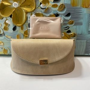 Chloe Sunglasses Case with Cleaning Cloth